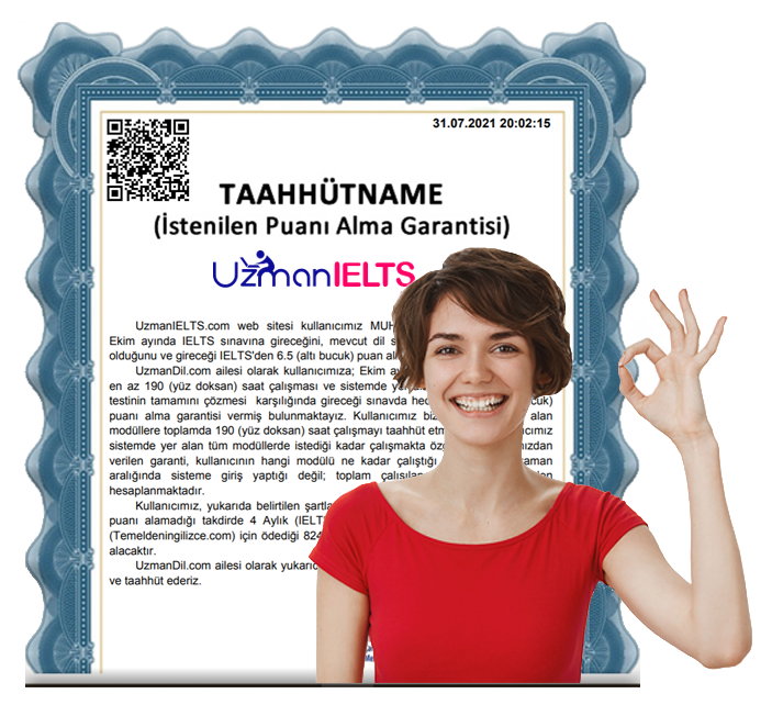 UzmanIELTS.com Garanti